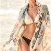 BALNEAIRE 范德安 BA02Y0010082040 比基尼泳衣套装(含印花披纱)