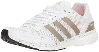 adidas 阿迪达斯 adizero adios 3 男式跑步鞋 (9.5US、白色)