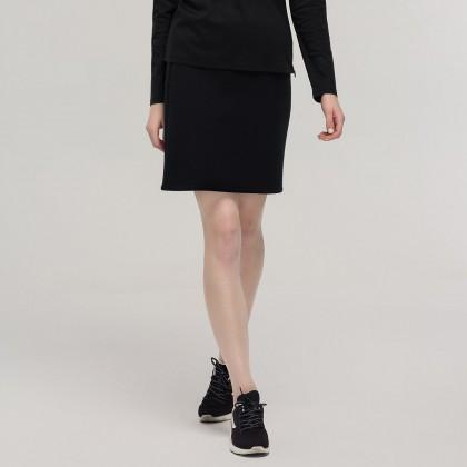 FILA  Cross Over系列 女款纯色罗纹松紧针织短裙