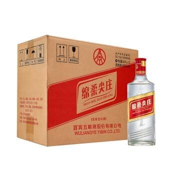 五粮液股份公司出品 绵柔尖庄(光瓶131) 50度浓香型白酒 整箱装 500ml*12瓶