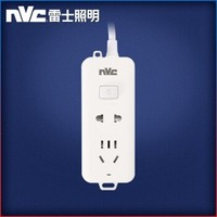 nvc-lighting 雷士照明 总控二位插排 1.2米