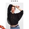 ZARA女装 镂空薄纱短款罩衫 05770223800 79元