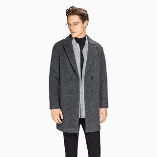 InteRight 男士双排毛呢大衣