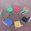 大驻马小靠背马扎便携钓椅折叠椅小凳子折叠凳板凳户外军工马札 军绿色 49元
