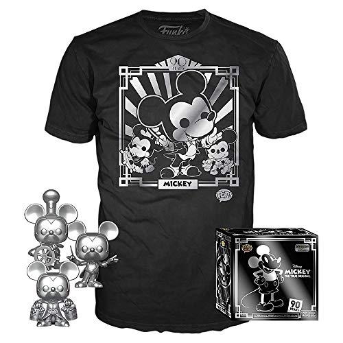 Funko POP 迪士尼米奇90周年限量款套装 (含3件限量公仔+1件限量T恤)