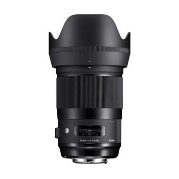 SIGMA 适马 ART 40mm F1.4 DG HSM 全画幅 大光圈定焦镜头 (黑色、佳能卡口)