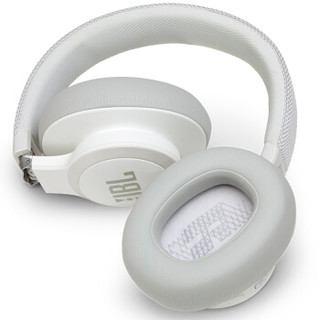 JBL 杰宝 LIVE 650BTNC 主动降噪耳机 优雅白