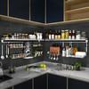 304不锈钢厨房置物架墙上壁挂式调味料架免打孔储物收纳架省空间 69元