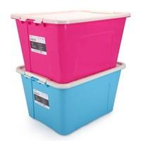 京东PLUS会员 : 亿高 EKOA塑料收纳箱衣物整理箱大号储物箱玩具收纳盒2个装55L