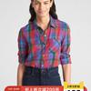 Gap女装 格纹衬衫 通勤基本款衬衣女356310 150元