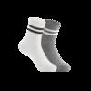 2件装 男式学院风中筒袜 19元