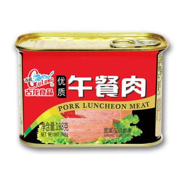 古龙食品 午餐肉罐头 198g *31件
