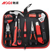 奥琪工具箱五金工具套装家用工具箱多功能电工工具包维修组套 AQ019 119元包邮