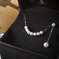 Pearlyuumi Akoya 4-4.5mm海水珍珠项链 K14白金