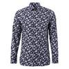 Z ZEGNA 杰尼亚 男士墨蓝色棉质印花长袖衬衫 905451 9DFLER G 41 920元
