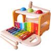 铭塔(MING TA)敲球台敲琴 儿童益智玩具早教启蒙 婴幼儿宝宝音乐 *5件 215元(合43元/件)