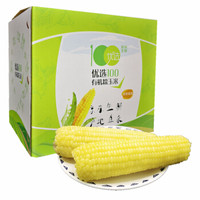 京东PLUS会员 : 优选100 有机速冻鲜食白糯玉米 6支 260g/支 礼盒装 *10件