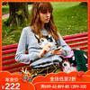 ochirly欧时力新女装俏皮猫咪卡通贴布绣套头毛衣1JY3036080 149元
