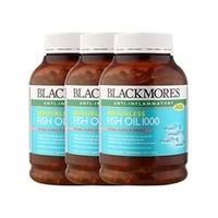中亚Prime会员:Blackmores 澳佳宝 无腥味深海鱼油 400粒*3瓶 *2件