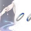 花芽 国风系列 925银 一水间 情侣对戒(一对)