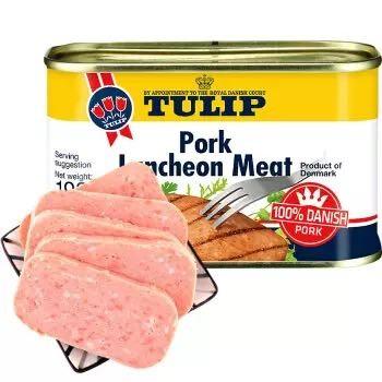 丹麦进口 Tulip 郁金香 经典午餐肉罐头 198g