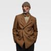 ZARA 05842550708 男士双排扣羊毛大衣 199元