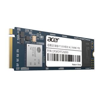 宏碁(Acer)1TB SSD固态硬盘 M.2接口(NVMe协议) VT500M系列-大容量极速版