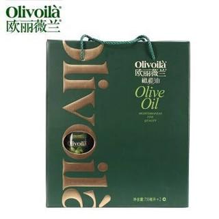 欧丽薇兰 橄榄油 简装礼盒 750ml*2瓶