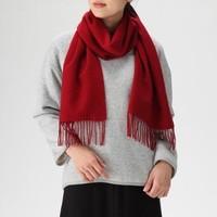 MUJI 无印良品 F8AD611 羊毛围巾 *2件