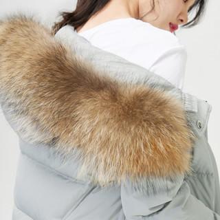 GOLDFARM 高梵 G1180102 女士大貉子毛领连帽羽绒服
