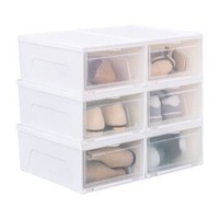 IRIS 爱丽思 塑料透明鞋盒 6只装