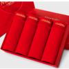 莫代尔本命年内裤男冬季男士内裤大红中腰平角短裤男 4条礼盒装 XL *3件 102.5元(合34.17元/件)