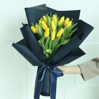 有间花店 黄色郁金香花束 19朵