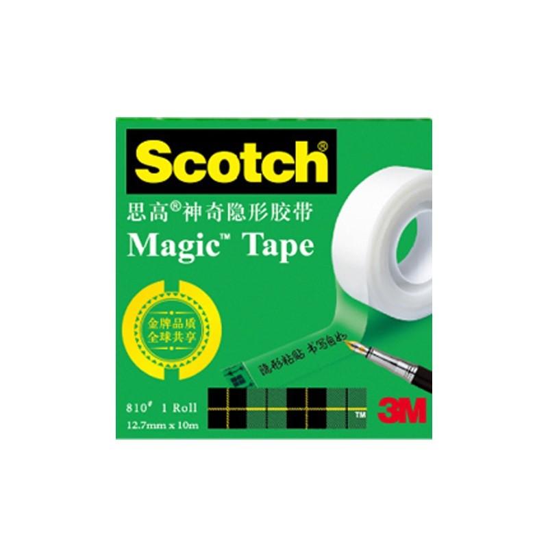 3M 思高 810Scotch 神奇隱形粘字膠帶 12.7mm*10米 2卷