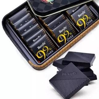 马来西亚进口 倍乐思Beryl's纯黑巧克力礼盒108g(含99%可可)休闲零食糖果