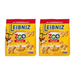 LEIBNIZ 小麦黄油动物儿童饼干 125g*2袋
