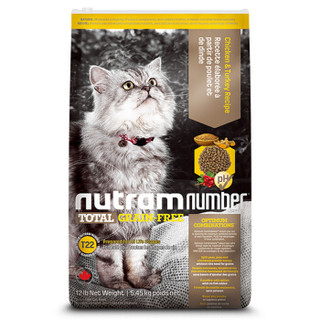 nutram 纽顿 T22 低敏系列 全期猫粮 5.45kg