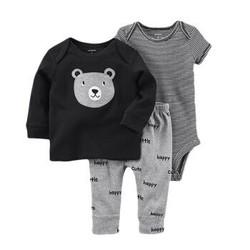 Carter's 凯得史 男宝宝长袖上衣连体衣长裤 3件套