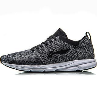 李宁  LI-NING ARBN031-3 跑步系列男子轻质跑鞋 标准黑/标准白 42码