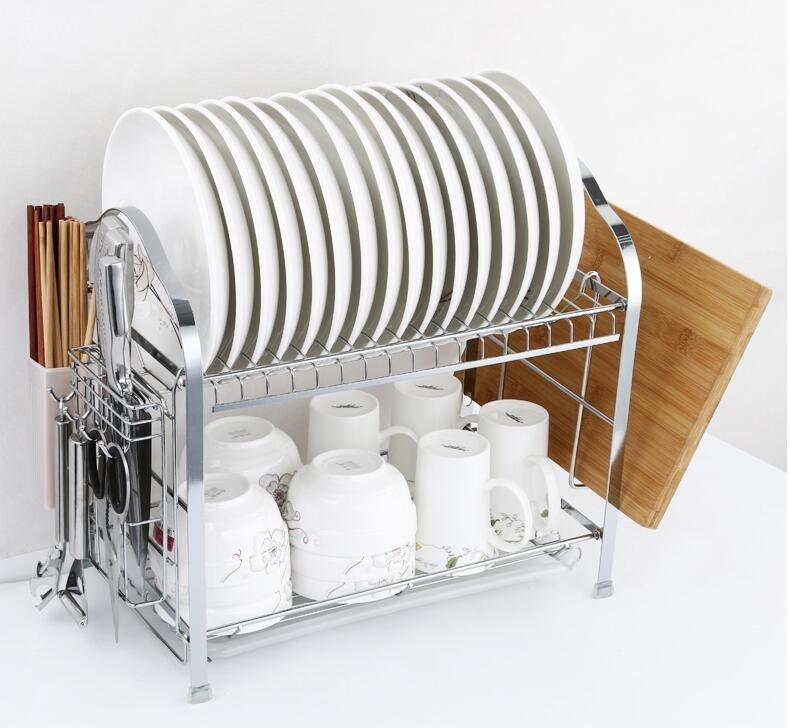Sakura  910B 厨房置物架(配砧板架+刀架筷子筒+白色接水盘)
