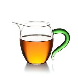 茶具高硼硅耐热玻璃公杯 公道杯 匀杯 分茶器 茶海 炫彩绿森林企鹅公杯(380ML)C-85-20-1
