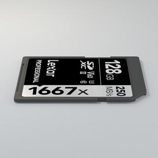 Lexar 雷克沙 1667X SD存储卡 128G (UHS-Ⅱ、V60、U3)