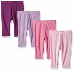 Hanes Ultimate Baby Flexy 针织裤 4 件套 粉色/紫色 12-18M