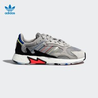 adidas Originals TRESC RUN BR 中性款休闲运动鞋 (纯质灰/黑色/银金属、40)