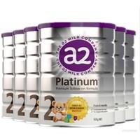 A2 白金版 婴幼儿奶粉 2段 900g 6罐装