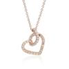 Blue Nile 14k 玫瑰金钻石扭纹密钉心形吊坠(1/6 克拉总重量) $457.28