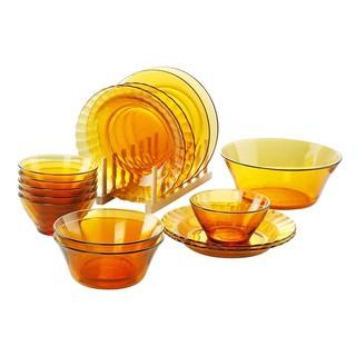 DURALEX 多莱斯 透明钢化玻璃餐具套装 15头