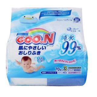 GOO.N 大王 99%纯净水婴儿湿巾 70抽 *5件