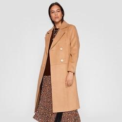 stradivarius 05834633450 女士中长款毛呢大衣