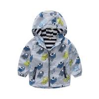 印象童年IK男童外套衣服儿童上衣宝宝中小童连帽拉链衫